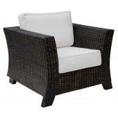 Alexa Armchair Black Wash Rattan